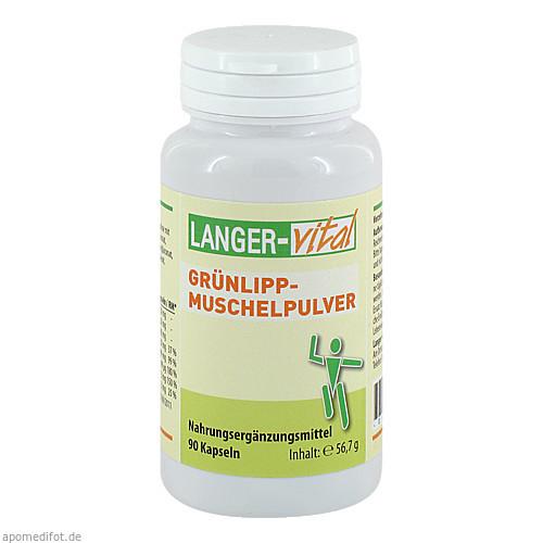 Grünlipp-Muschelpulver 1050mg/Tg, 90 ST, Langer Vital GmbH