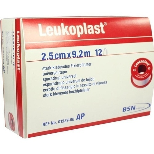 LEUKOPLAST 9.2MX2.50CM, 12 ST, Bsn Medical GmbH