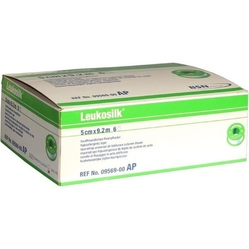 LEUKOSILK 9.2MX5CM, 6 ST, Bsn Medical GmbH