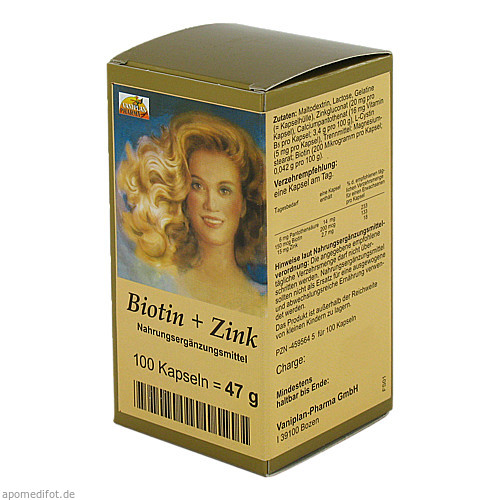 Biotin + Zink Haarkapseln, 100 ST, Vaniplan Pharma GmbH