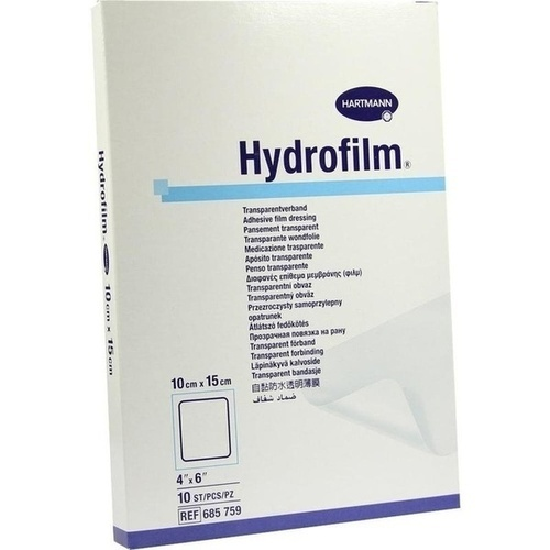 Hydrofilm Transparentverband 10x15cm, 10 ST, Paul Hartmann AG