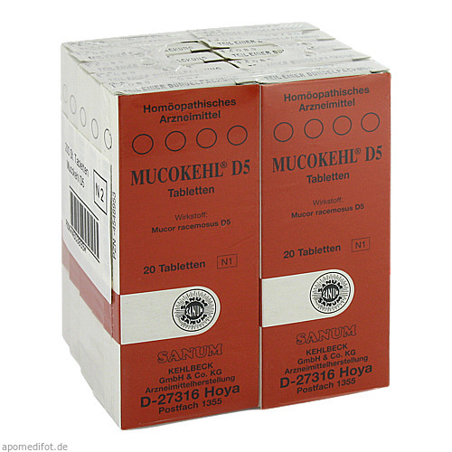MUCOKEHL D 5, 10X20 ST, Sanum-Kehlbeck GmbH & Co. KG
