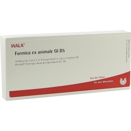 FORMICA EX ANIMALE GL D 5, 10X1 ML, Wala Heilmittel GmbH