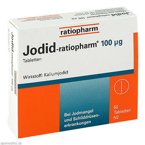 Jodid-ratiopharm 100ug, 50 ST, ratiopharm GmbH