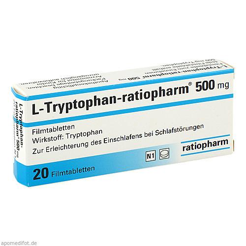 L-Tryptophan-ratiopharm 500 mg, 20 ST, ratiopharm GmbH