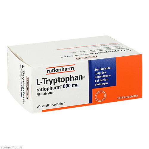 L-TRYPTOPHAN ratiopharm 500 mg Filmtabletten, 100 ST, ratiopharm GmbH