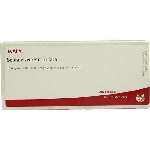 SEPIA E SECRETO GL D15, 10X1 ML, Wala Heilmittel GmbH