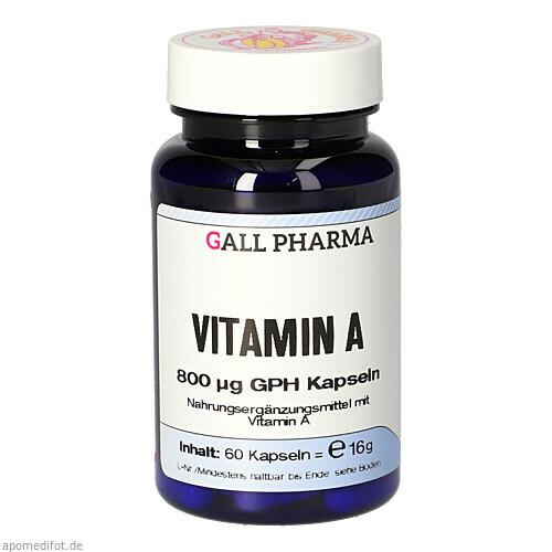 Vitamin A 800ug GPH Kapseln, 60 ST, Hecht-Pharma GmbH