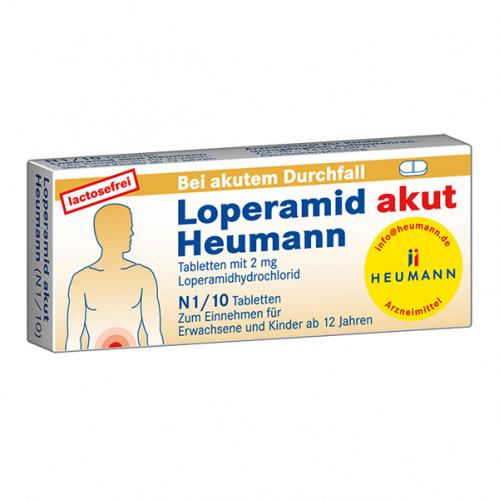 LOPERAMID AKUT HEUMANN, 10 ST, Heumann Pharma GmbH & Co. Generica KG