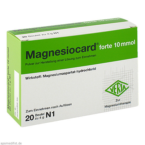 Magnesiocard forte 10 mmol, 20 ST, Verla-Pharm Arzneimittel GmbH & Co. KG