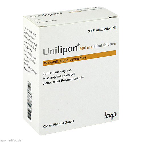 Unilipon 600 Filmtabletten, 30 ST, Köhler Pharma GmbH