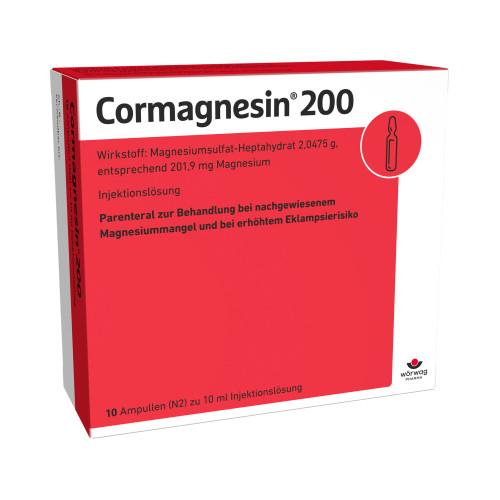 CORMAGNESIN 200, 10X10 ML, Wörwag Pharma GmbH & Co. KG