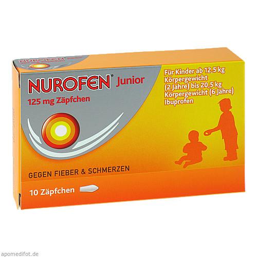 Nurofen Junior 125 mg Zäpfchen, 10 ST, Reckitt Benckiser Deutschland GmbH