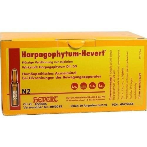 HARPAGOPHYTUM HEVERT Ampullen, 50 ST, Hevert Arzneimittel GmbH & Co. KG