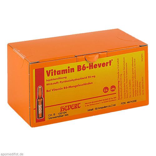 VITAMIN B6 Hevert Ampullen, 50X2 ML, Hevert Arzneimittel GmbH & Co. KG