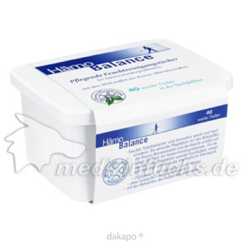 Hämo Balance Pflegende Reinigungstücher Box, 40 ST, Nölken Hygiene Products GmbH