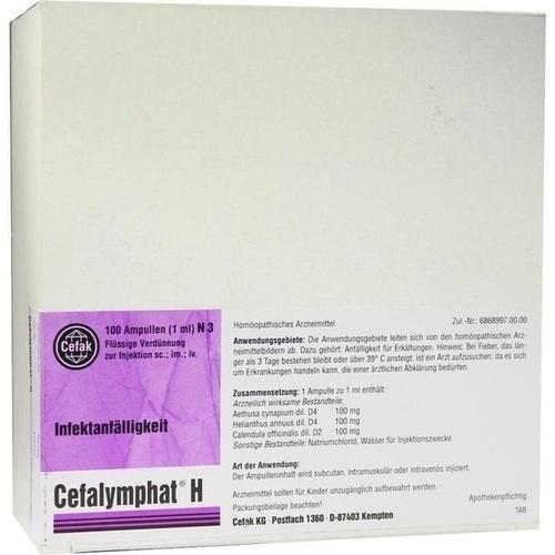 CEFALYMPHAT H, 100X1 ML, Cefak KG