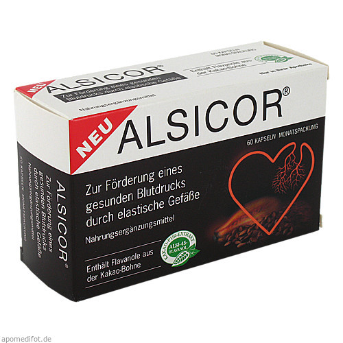Alsicor mit Kakao-Flavanolen, 60 ST, Alsitan GmbH