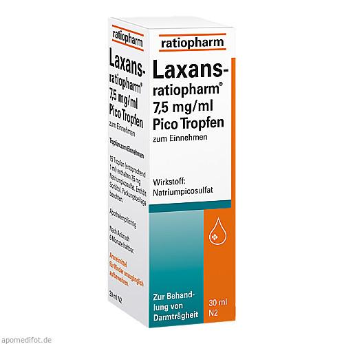 Laxans-ratiopharm 7.5mg/ml Pico Tropfen, 30 ML, ratiopharm GmbH