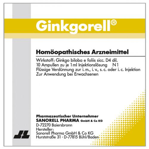 Ginkgorell, 10X1 ML, sanorell pharma GmbH & Co KG