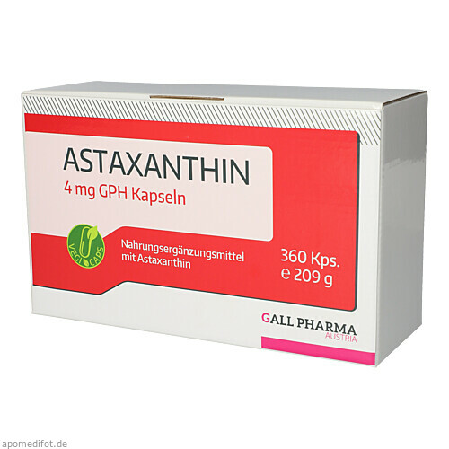 Astaxanthin 4 mg GPH Kapseln, 360 ST, Hecht-Pharma GmbH