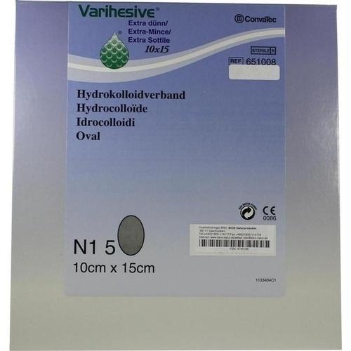 Varihesive extra dünn HKV hydroaktiv 10x15cm, 5 ST, Junek Europ-Vertrieb GmbH