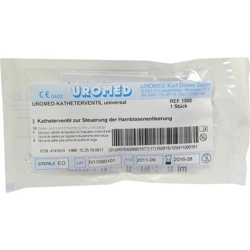 UROMED Katheter-Ventil Universal 1500, 1 ST, Uromed Kurt Drews KG
