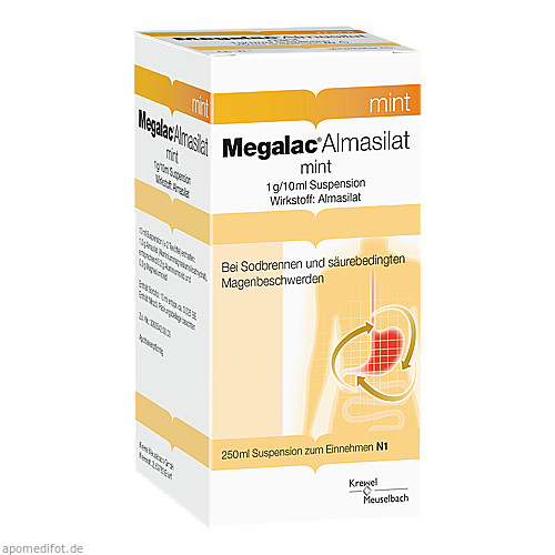 MEGALAC Almasilat mint Suspension, 250 ML, Krewel Meuselbach GmbH