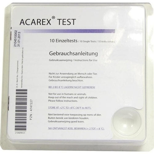 ACAREX TEST, 10 ST, Davimed Pharma GmbH