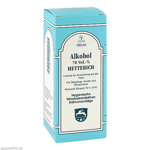 ALKOHOL 70 VOL % HETTERICH, 100 ML, Teofarma S.R.L.