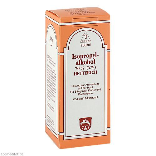ISOPROPYLALKOHOL 70% HETTERICH, 200 ML, Teofarma S.R.L.