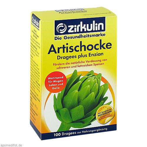 Zirkulin Artischocke Dragees plus Enzian, 100 ST, DISTRICON GmbH