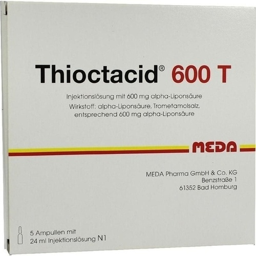 THIOCTACID 600 T, 5X24 ML, MEDA Pharma GmbH & Co.KG