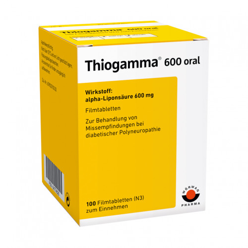 THIOGAMMA 600 ORAL, 100 ST, Wörwag Pharma GmbH & Co. KG
