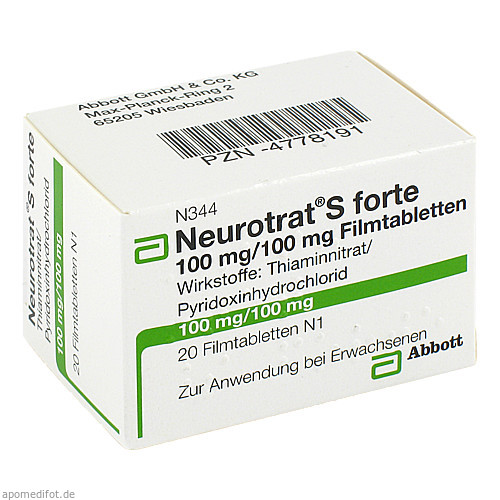 NEUROTRAT S FORTE, 20 ST, Mylan Healthcare GmbH