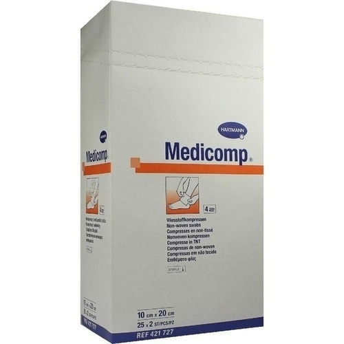 MEDICOMP Kompressen 10x20 cm steril, 25X2 ST, PAUL HARTMANN AG