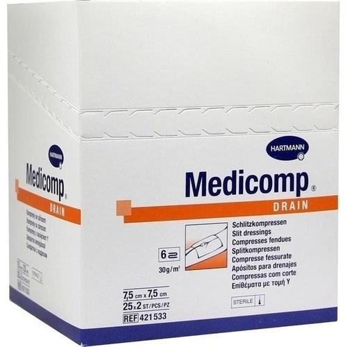 MEDICOMP DRAIN STER7.5X7.5, 25X2 ST, Paul Hartmann AG