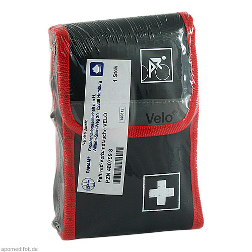 FAHRRAD VERBANDTASCHE 17X11X2CM BEST.-NR 61180, 1 ST, Holthaus Medical GmbH & Co. KG