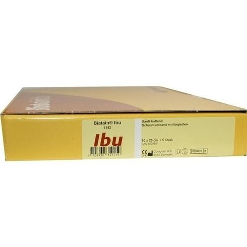 Biatain-Ibu Schaumverband sanft-haftend 10x20cm, 5 ST, Coloplast GmbH