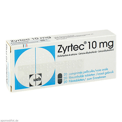 ZYRTEC, 20 ST, Beragena Arzneimittel GmbH