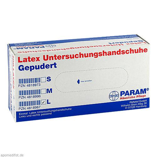 Einmal Handschuhe Latex gepudert L, 100 ST, Param GmbH