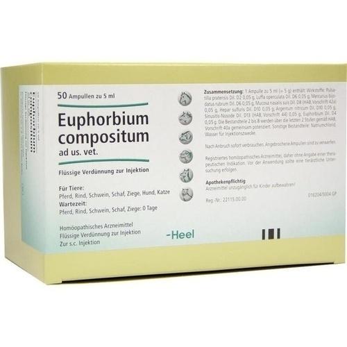 EUPHORBIUM COMPOSITUM ad us.vet.Ampullen, 50X5 ML, Biologische Heilmittel Heel GmbH