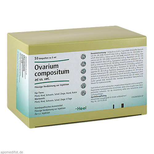 OVARIUM COMPOSITUM ad us.vet.Ampullen, 50X5 ML, Biologische Heilmittel Heel GmbH