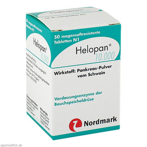 HELOPAN 10.000 magensaftresistente Tabletten, 50 ST, NORDMARK Arzneimittel GmbH & Co.KG