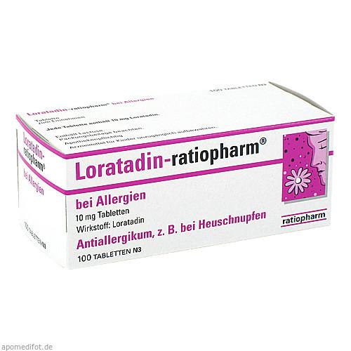 LORATADIN ratiopharm b.Allergien Tabletten, 100 ST, ratiopharm GmbH