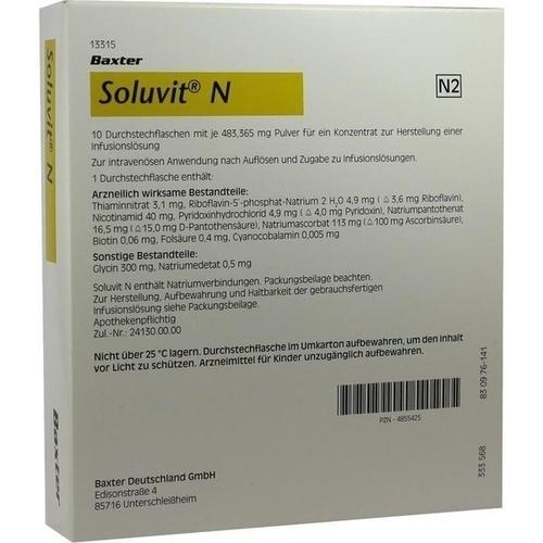 SOLUVIT N, 10X10 ML, Baxter Deutschland GmbH Medication Delivery