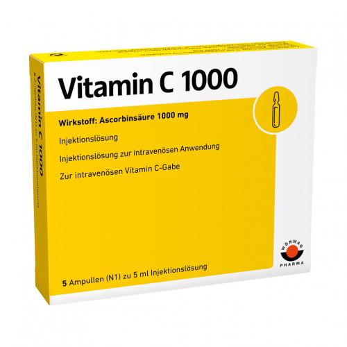 VITAMIN C 1000, 5X5 ML, Wörwag Pharma GmbH & Co. KG