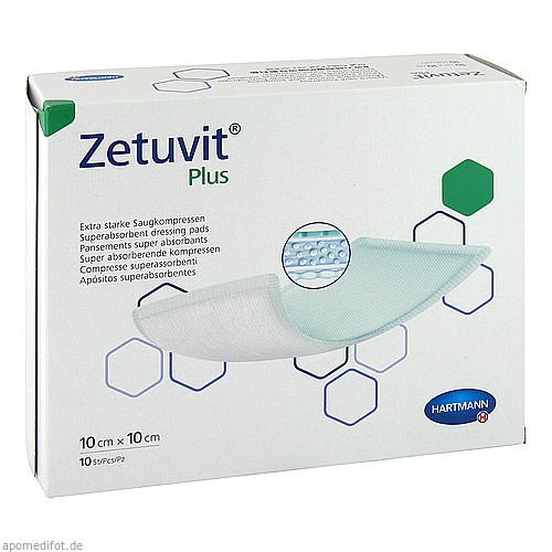 Zetuvit Plus extrastarke Saugkompr.ster10x10cm CPC, 10 ST, Count Price Company GmbH & Co. KG