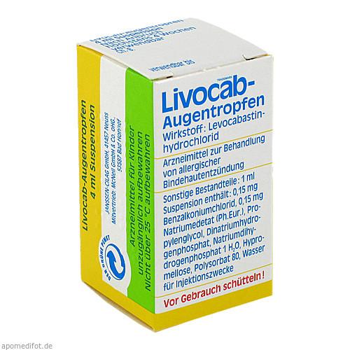 LIVOCAB Augentropfen, 4 ML, Johnson & Johnson GmbH (OTC)