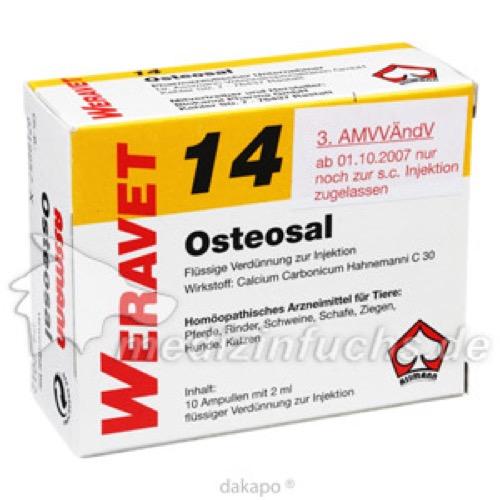 OSTEOSAL 14 Ampullen vet., 10X2 ML, Biokanol Pharma GmbH